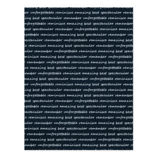paper-spec NAVYBLUE TYPOGRAPHY MOTIVATIONAL SAYING Postcard
