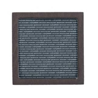 paper-spec NAVYBLUE TYPOGRAPHY MOTIVATIONAL SAYING Premium Keepsake Box
