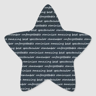 paper-spec NAVYBLUE TYPOGRAPHY MOTIVATIONAL SAYING Star Stickers
