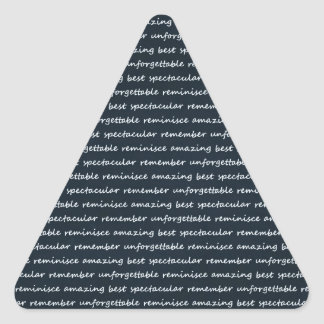 paper-spec NAVYBLUE TYPOGRAPHY MOTIVATIONAL SAYING Triangle Stickers