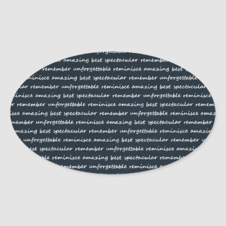 paper-spec NAVYBLUE TYPOGRAPHY MOTIVATIONAL SAYING Oval Stickers