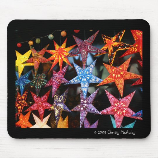 Paper Stars and Chinese Lanterns Mouse Pad