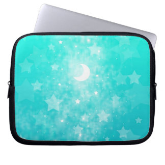 Paper Stars and Moon Fantasy Celestial Art Computer Sleeve