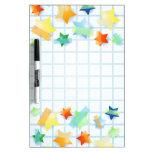 Paper stars, board Dry-Erase boards