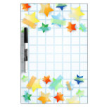 Paper stars, board Dry-Erase whiteboards