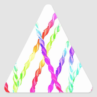 paper streamer triangle sticker