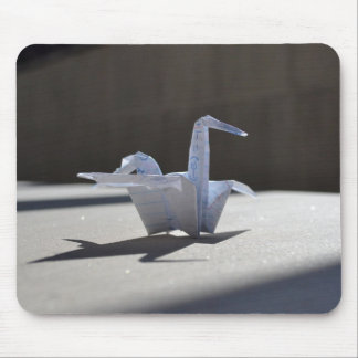 Paper Swan Mouse Pad