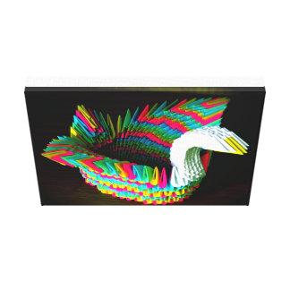 Paper swan Pillow Canvas Print