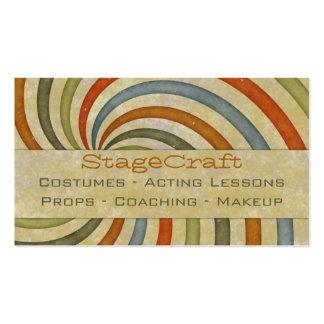 Paper Swirl Retro Business Cards