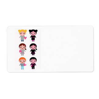 Paper tag with Emo girls