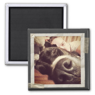 Paper Taped Frame Old Instagram Photo 2 Inch Square Magnet