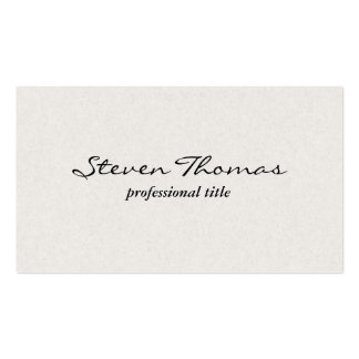 Paper Texture | EggShell White Business Card