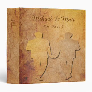 Paper Texture Vintage Gay Wedding Album Gift Binder