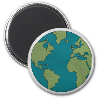 Paper textured Earth magnet