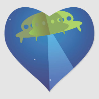 Paper theater - UFO Heart Sticker