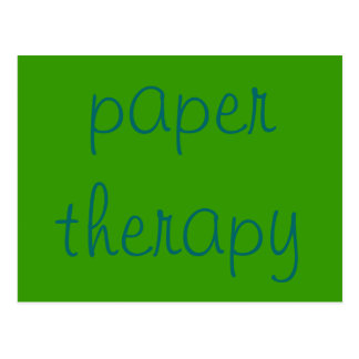 paper therapy postcard