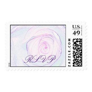 paper thin, RSVP Postage Stamp