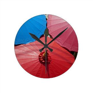 paper umblella round clock
