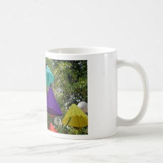 paper umbrella coffee mug