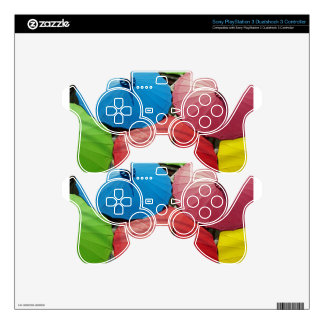 paper umbrella decal for PS3 controller