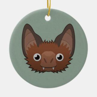 Paper Vampire Bat Ceramic Ornament