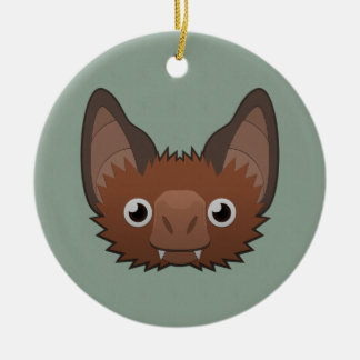 Paper Vampire Bat Double-Sided Ceramic Round Christmas Ornament