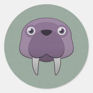 Paper Walrus Classic Round Sticker