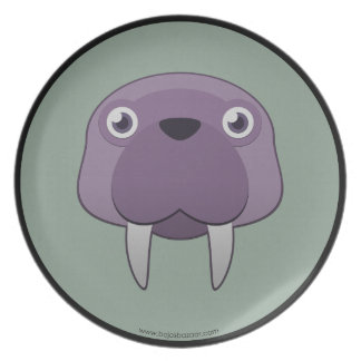 Paper Walrus Party Plates