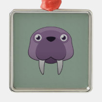 Paper Walrus Premium Square Ornament