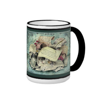Paper Wedding Anniversary : Jupigio-Artwork.com Ringer Coffee Mug