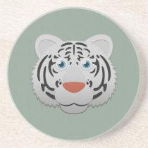 Paper White Bengal Tiger Sandstone Coaster