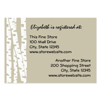 Paper White Birch Large Business Card