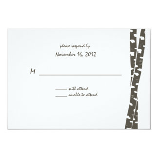 Paper White Birch/ Reply Card