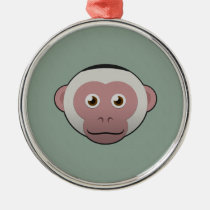 Paper White-Faced Capuchin Premium Round Ornament