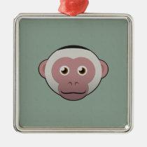 Paper White-Faced Capuchin Premium Square Ornament