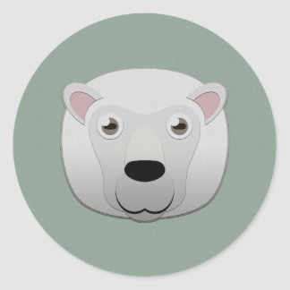 Paper White Sheep Classic Round Sticker