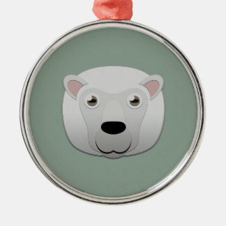 Paper White Sheep Metal Ornament