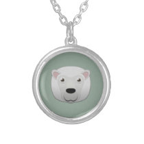 Paper White Sheep Silver Necklace