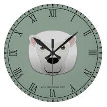 Paper White Sheep Wallclock