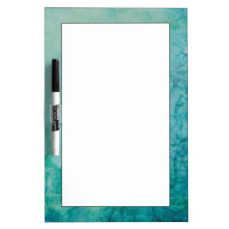 Paper With Blue, Green, And Black Paint Abstract Dry-Erase Board
