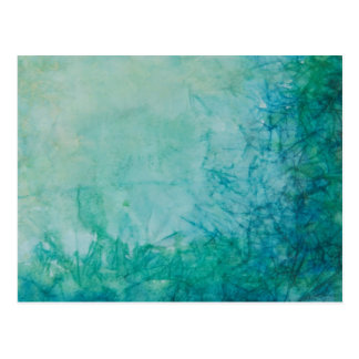 Paper With Blue, Green, And Black Paint Abstract Postcard