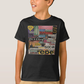 Paper word phrase collage from magazine clippings T-Shirt