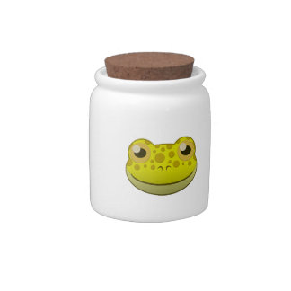 Paper Yellow Frog Candy Dish