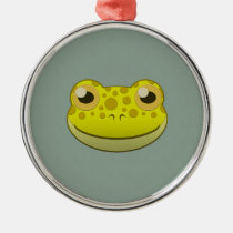 Paper Yellow Frog Premium Round Ornament
