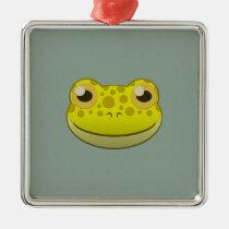 Paper Yellow Frog Premium Square Ornament