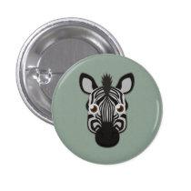 Paper Zebra Pinback Button