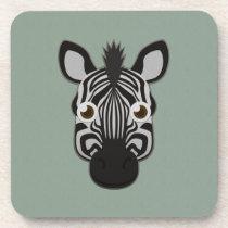 Paper Zebra Plastic Coasters (6x)