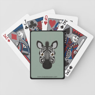 Paper Zebra Bicycle Playing Cards