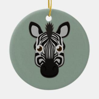 Paper Zebra Ceramic Ornament