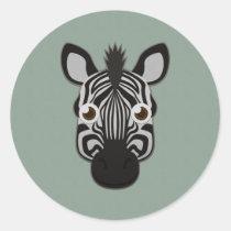 Paper Zebra Sticker Sheet